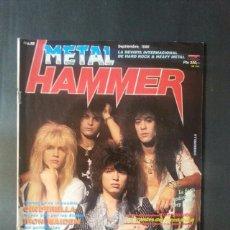 Revistas de música: REVISTA METAL HAMMER NÚMERO 10 AÑO 1988. CINDERELLA. Lote 136682882