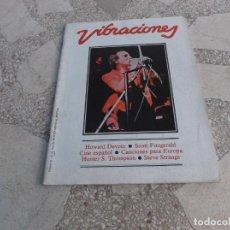 Revistas de música: VIBRACIONES Nº 85 ,HOWARD DEVOTO,SCOTT FITZGERALD,CINE ESPAÑOL -80,CANCIONES PARA EUROPA . Lote 136708830