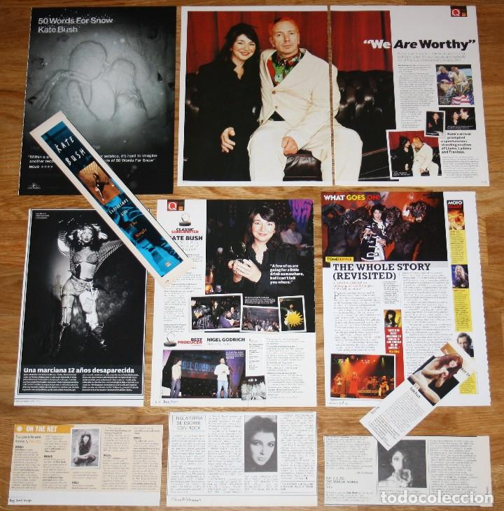 KATE BUSH lote prensa clippings 1980s/00s photos 10x magazine dated  articles female singer