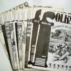 Revistas de música: DIEZ EJEMPLARES DE LA REVISTA ESPAÑOLA 'FOLK' (AÑOS 86-87 Y 88). Lote 139798190