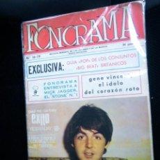 Revistas de música: BEATLES REVISTA FONORAMA DOBLE NUMERO ORIGINAL EPOCA AÑOS 60 ESPAÑA MCCARTNEY PORTADA RARO. Lote 137965174