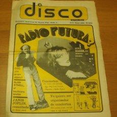 Revistas de música: DISCO ACTUALIDAD Nº 3 / 1980 ~ RADIO FUTURA ~ NINA HAGEN ~ JANIS JOPLIN ~ DOCTOR FEELGOOD ~ COZ . Lote 138826682