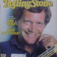 Revistas de música: ROLLING STONE MAGAZINE 1982/ HOW WEIRD IS DAVID LETTERMAN/ ISSUE NO. 371. Lote 138863030