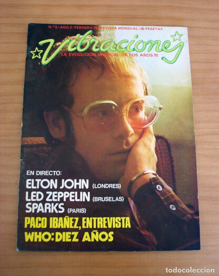VIBRACIONES - N.º 5 - AÑO 1975 - PÓSTER EN PÁGINAS CENTRALES - MUY BUEN ESTADO (Música - Revistas, Manuales y Cursos)