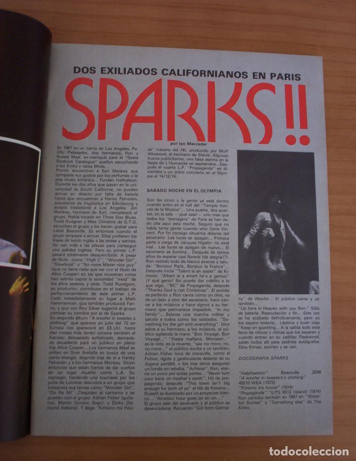 Revistas de música: VIBRACIONES - N.º 5 - AÑO 1975 - PÓSTER EN PÁGINAS CENTRALES - MUY BUEN ESTADO - Foto 3 - 138955898