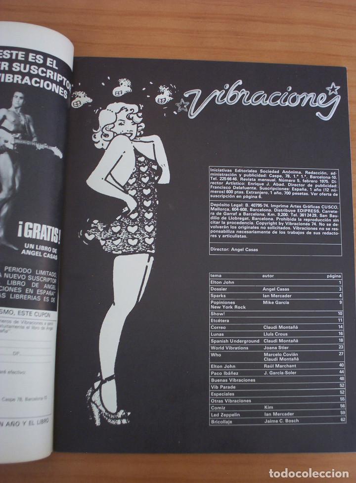 Revistas de música: VIBRACIONES - N.º 5 - AÑO 1975 - PÓSTER EN PÁGINAS CENTRALES - MUY BUEN ESTADO - Foto 4 - 138955898