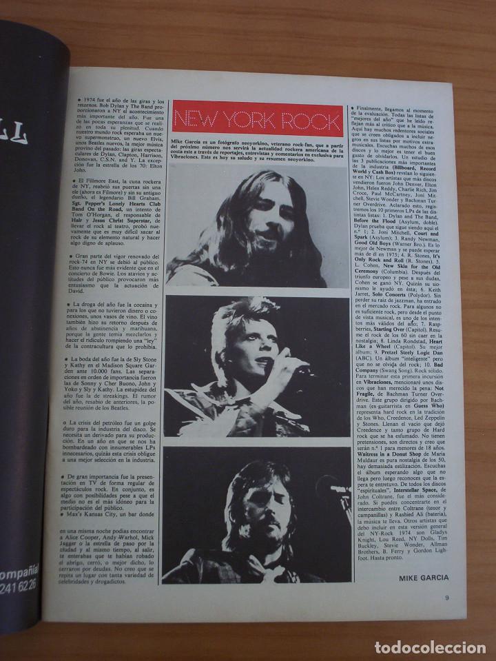 Revistas de música: VIBRACIONES - N.º 5 - AÑO 1975 - PÓSTER EN PÁGINAS CENTRALES - MUY BUEN ESTADO - Foto 5 - 138955898
