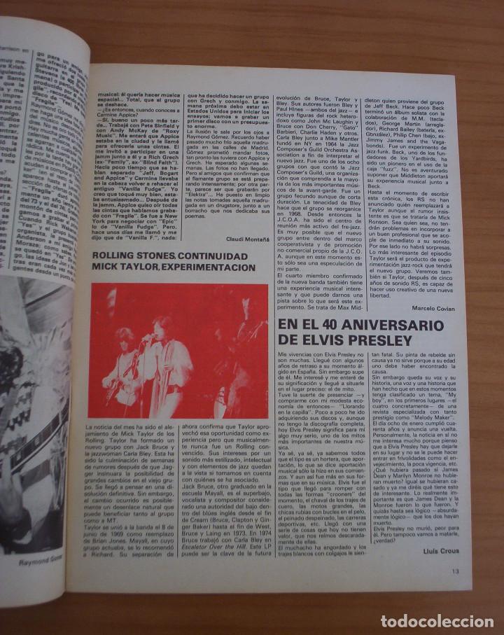 Revistas de música: VIBRACIONES - N.º 5 - AÑO 1975 - PÓSTER EN PÁGINAS CENTRALES - MUY BUEN ESTADO - Foto 6 - 138955898