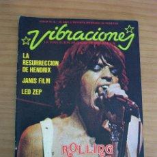 Revistas de música: VIBRACIONES - N.º 10 - AÑO 1975 - PÓSTER EN PÁGINAS CENTRALES - MUY BUEN ESTADO. Lote 138998234