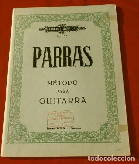 MÉTODO PARA GUITARRA PARRAS - EDICIÓN IBÉRICA Nº 135 - ED. BOILEAU BARCELONA - AÑOS 70 - PARTITIRAS (Música - Revistas, Manuales y Cursos)