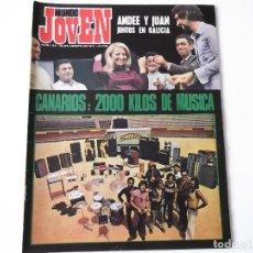 Revistas de música: REVISTA MUNDO JOVEN Nº 152 (1971) - J. PARDO, DANIEL VELAZQUEZ, RAIMON, CANARIOS + POSTER. Lote 139400278
