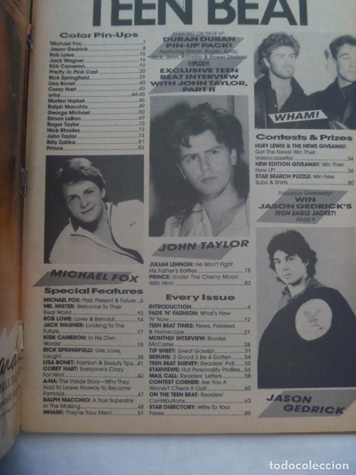 Revistas de música: REVISTA DE MUSICA PARA ADOLESCENTES DE INGLATERRA : TEEN BEAT . ABRIL 1986. EN INGLES - Foto 2 - 142355490
