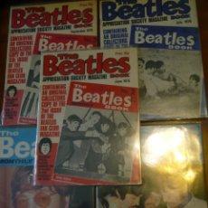 Revistas de música: LOTE BEATLES: 5 REVISTAS THE BEATLES MONTHLY +TRES SUPLEMENTES MUNDO JOVEN LENNON+10 CROMOS BRUGUERA. Lote 142814466