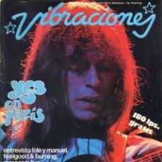 Revistas de música: REVISTA VIBRACIONES Nº 40 - 1978 - FALTAN LOS POSTERS CENTRALES - YES,LOLE Y MANUEL,FEELGOOD,BURNING. Lote 143093374