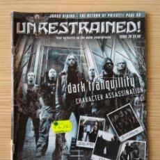 Revistas de música: REVISTA UNRESTRAINED! MAGAZINE Nº 26. Lote 143102522