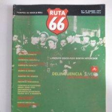 Riviste di musica: RUTA 66 Nº 16: AUELIO Y LOS VAGABUNDOS.DELINCUENCIA JUVENIL - HITCHCOCK. PHIL SPECTOR. SCOTT WALK. Lote 143695818