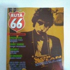 Revistas de música: RUTA 66 Nº 6 ,BOB DYLAN, SINIESTRO TOTAL, JOHNNY THUNDERS, THE KINGSNAKES. Lote 143704438