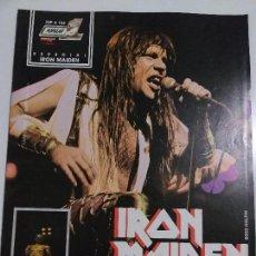 Revistas de música: REVISTA POPULAR 1 ESP A 104 ESPECIAL IRON MAIDEN - CON POSTER - COMPLETA - BUEN ESTADO. Lote 143705686