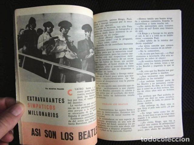 BEATLES REVISTA ORIGINAL EN ESPAÑA JULIO 1965 JOVENES RARO (Música - Revistas, Manuales y Cursos)