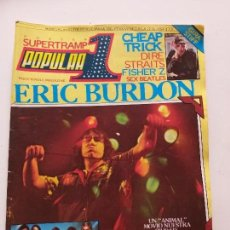 Revistas de música: POPULAR 1, Nº 91 (CON POSTER) - ERIC BURDON, CHEAP TRICK, SUPERTRAMP, PINK FLOYD, NACHA POP. Lote 143983082