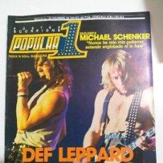 Riviste di musica: POPULAR 1 Nº 126 - 1983- DEF LEPPARD - CON POSTER SCORPIONS SUPER - SAGA, ROCK GODDESS, THE FIXX. Lote 144931778