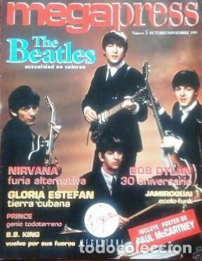 REVISTA ESPAÑOLA MEGAPRESS PORTADA BEATLES POSTER DE PAUL MCCARTNEY (Música - Revistas, Manuales y Cursos)