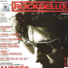 Revistas de música: ROCK DE LUX / ROCKDELUX Nº 180 (DICIEMBRE 200): ANDRÉS CALAMARO. ANARI + MALA RODRÍGUEZ. Lote 145827362