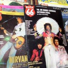 Revistas de música: RUTA 66 - LOTE DE 43 NÚMEROS. Lote 146696646