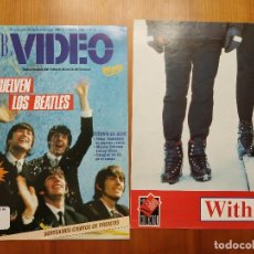 Revistas de música: BEATLES REVISTA CLUB DE VIDEO AÑO 90 . INCLUYE POSTER. Lote 147080894