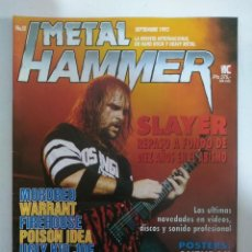 Revistas de música: METAL HAMMER Nº58: SLAYER, MORDRED, SUICIDAL TENDENCIES, ANTHRAX, OBITUARY (CON POSTERS). Lote 147473754