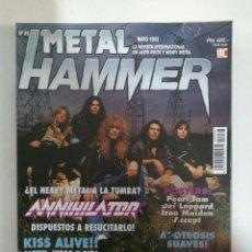 Revistas de música: METAL HAMMER Nº66: ANNIHILATOR, KISS, APOTEOSIS SUAVES, JUDAS PRIEST, BON JOVI, HELLOWEN (CON POSTER. Lote 147479914