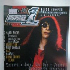 Revistas de música: POPULAR 1 Nº383: RAMONES, ALICE COOPER, SILVER SUN, KANSAS. HANOI ROCKS, BILLY CORGAN (IMPECABLE) . Lote 147481606