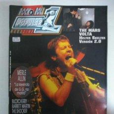 Revistas de música: POPULAR 1 Nº396: IRON MAIDEN, MARS VOLTA, MERLE ALLIN, BUCKCHERRY, SAM MOORE, UZZHUAIA (IMPECABLE) . Lote 147482242