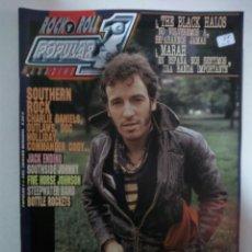 Revistas de música: POPULAR 1 Nº395: BRUCE SPRINGSTEEN, SOUTHERN ROCK, FIVE HORSE JOHNSON, ROSE HILL DRIVE (IMPECABLE) . Lote 147482426