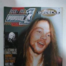 Revistas de música: POPULAR 1 Nº389: AXL ROSE, BAUHAUS, WOLFMOTHER, DEEP PURPLE, JETHRO TULL, JACK DOUGLAS (IMPECABLE) . Lote 147482810