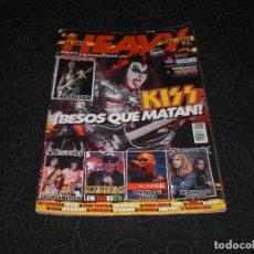 Revistas de música: REVISTA MAGAZINE LA HEAVY N 347 KISS EXTREMODURO MEGADEATH BILBAO DISCOS ROCK SCORPIONS. Lote 147633654