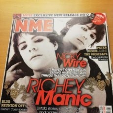 Revistas de música: REVISTA NME 9 FEBRUARY 2008 (RICHEY MANIC, NICKY WIRE, THE REVEREND). Lote 147655946