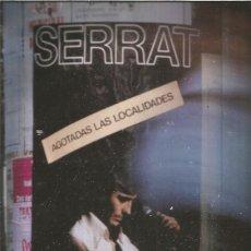 Revistas de música: LIBRETO SERRAT GIRA 1984. Lote 148533242