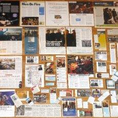 Revistas de música: WILCO LOTE PRENSA CLIPPINGS 1990S/2010S MAGAZINE ARTICLES CLIPPINGS ADS PHOTOS JEFF TWEEDY. Lote 150728610