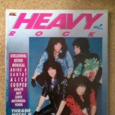 Revistas de música: HEAVY ROCK N° 52: KISS, VENOM, ALICE COOPER, MOTORHEAD, THRASH METAL, MSN (CON POSTER). Lote 150968834
