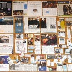 Revistas de música: WILCO LOTE PRENSA CLIPPINGS 1990S/2010S MAGAZINE ARTICLES CLIPPINGS ADS PHOTOS JEFF TWEEDY. Lote 150935430