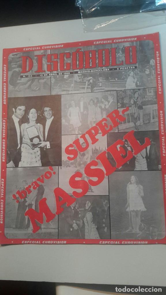 DISCOBOLO 153 ESPECIAL EUROVISION MASSIEL ABRIL 68 (Música - Revistas, Manuales y Cursos)