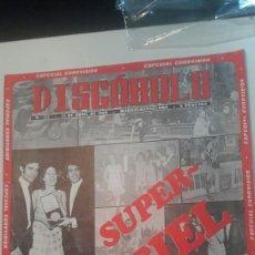 Revistas de música: DISCOBOLO 153 ESPECIAL EUROVISION MASSIEL ABRIL 68. Lote 151640814