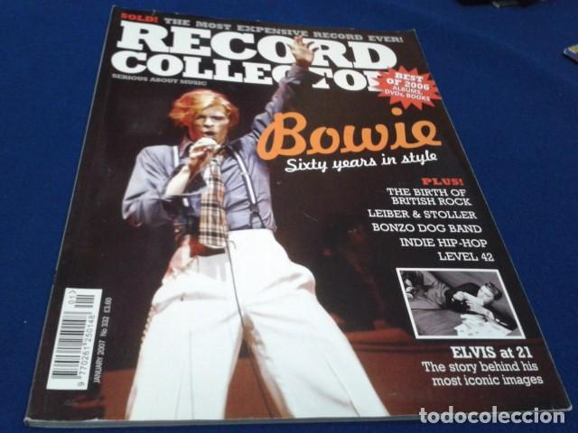 REVISTA RECORD COLLECTOR DAVID BOWIE ( BEST OF 2006 ALBUMS, DVD, BOOKS )  147 PAGINAS