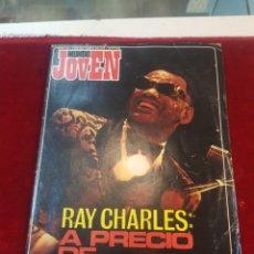 Revistas de música: REVISTA MUNDO JOVEN 210 RAY CHARLES GRETA GARBO. Lote 152157177