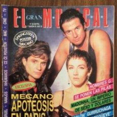 Revistas de música: REVISTA EL GRAN MUSICAL. Nº 365. JUNIO 1992. MECANO HOMBRES G MADONNA GURRUCHAGA. Lote 152166346