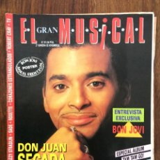 Revistas de música: REVISTA EL GRAN MUSICAL. Nº 375. NOVIEMBRE 1992. JON SECADA BON JOVI FLECHAZOS PRINCE ROXETTE. Lote 152166754