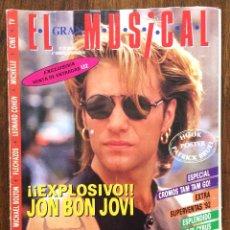 Revistas de música: REVISTA EL GRAN MUSICAL. Nº 377. DICIEMBRE 1992. BON JOVI INXS REM FLECHAZOS BILLY RAY CYRUS. Lote 152167062