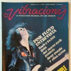 Revistas de música: VIBRACIONES. FEBRERO 76. NÚMERO 17. PINK FLOYD. DEEP PURPLE. REVISTA DE ROCK.. Lote 152557174