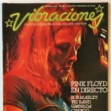 Revistas de música: VIBRACIONES. MARZO 77. NÚMERO 30. PINK FLOYD EN DIRECTO. REVISTA DE ROCK.. Lote 152559398